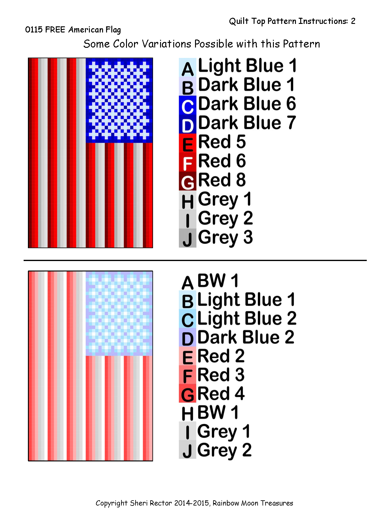 0115 FREE American Flag Quilt Pattern